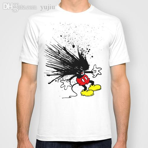 Wholesale t shirt men mickey mouse cartoon print man t for T shirt design wholesale