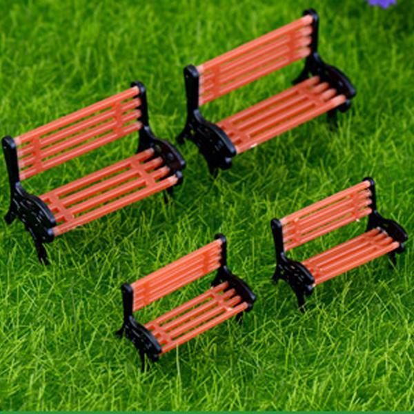 Mini Bench Chair Resin Artware Craft Home Decoration Diy Miniature Garden Accessories Flowerpot