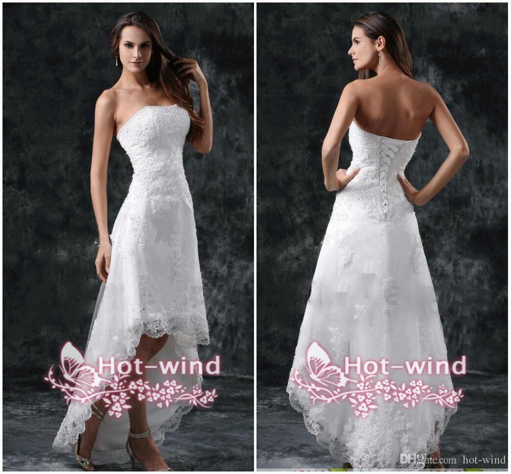 Discount $69 Wedding Dresses y Strapless Appliques Lace