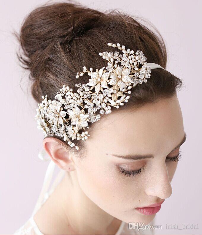 Flowers For Hair Wedding Ireland : Vintage crystal bridal headpiece headband hair