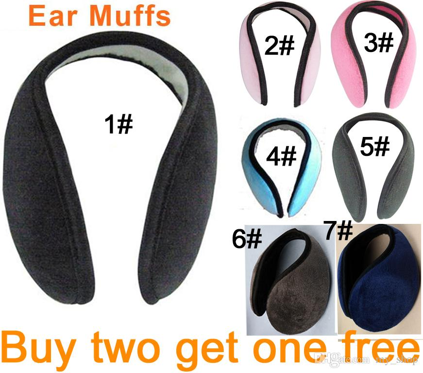 Cheap Mode Earmuffs Hommes Femmes Winter Plush Mélange Cotton Caps Chapeaux Runn