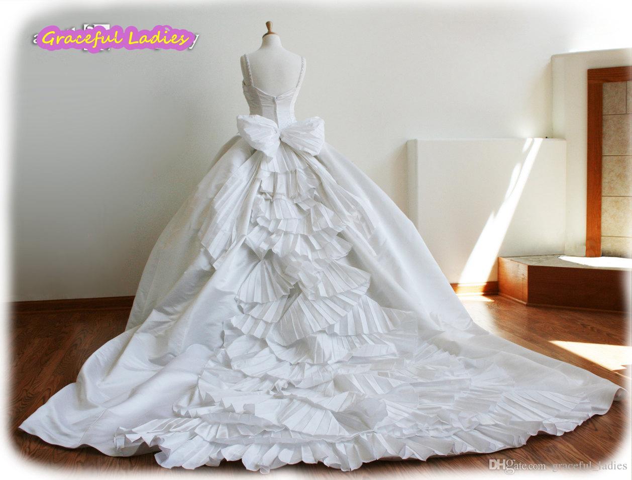 White Cinderella Wedding Dresses Plus Size Ball Gown