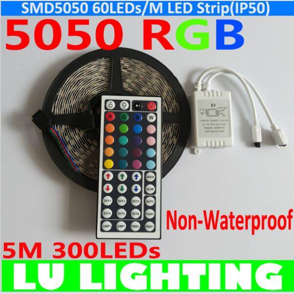 led strip light 5050 smd rgb ruban led light ribbon non waterproof 12v fita de led with 44keys. Black Bedroom Furniture Sets. Home Design Ideas