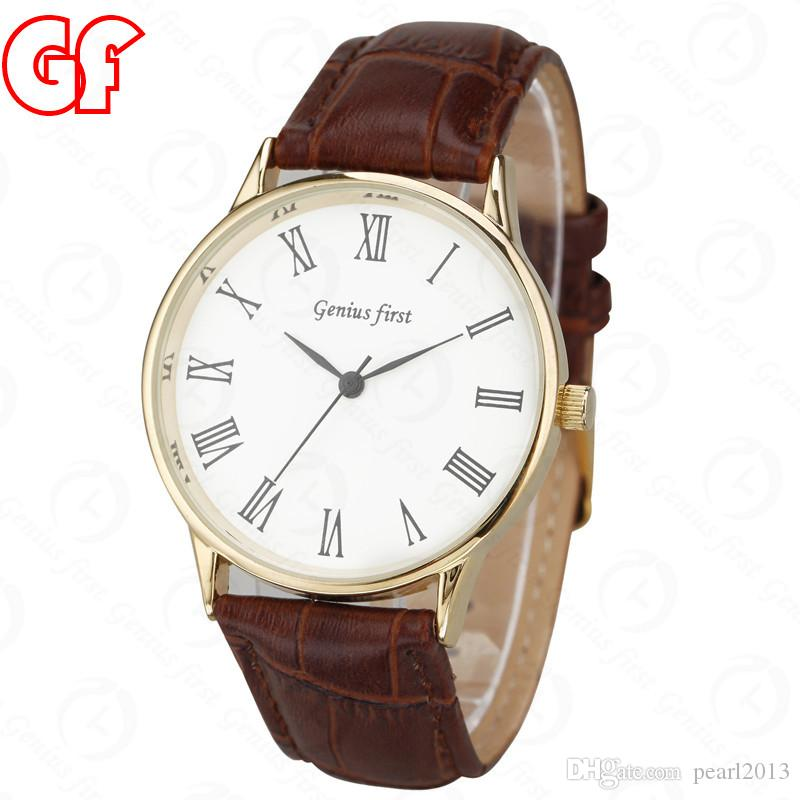 christmas gift mens brown fashion leather watches brand new simple christmas gift mens brown fashion leather watches brand new simple style wristwatch men watch brand genius