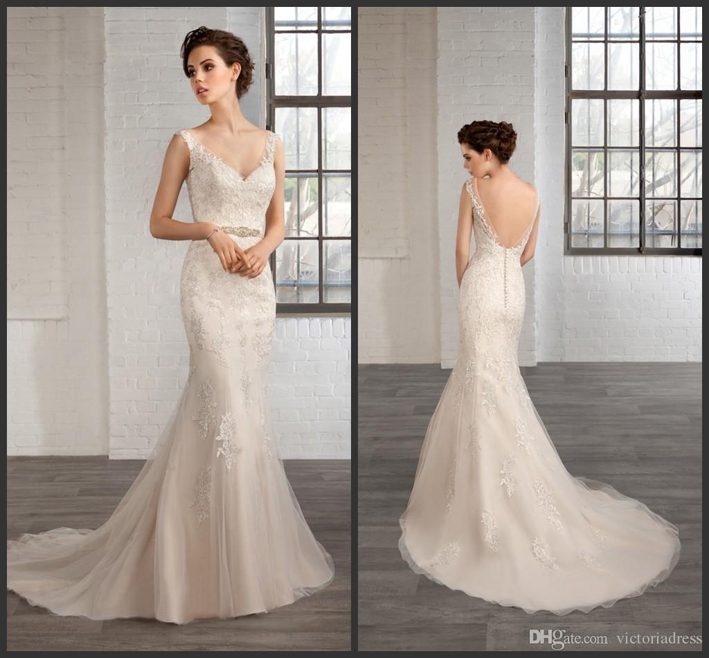 Glamorous Mermaid Wedding Dresses Cosmobella 2016 Modest
