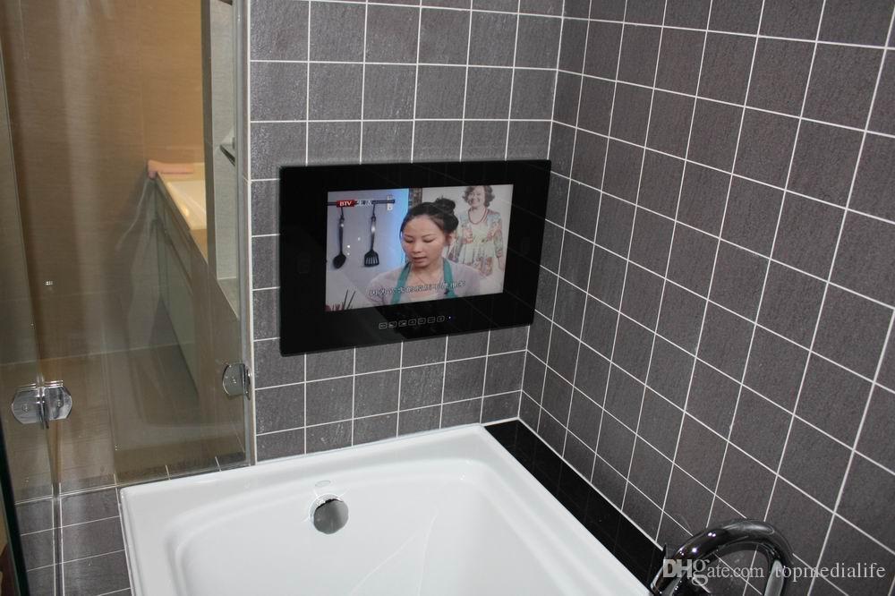 Bathroom Mirror Usb free drop shipping 15.6 inch waterproof bathroom magic mirror tv