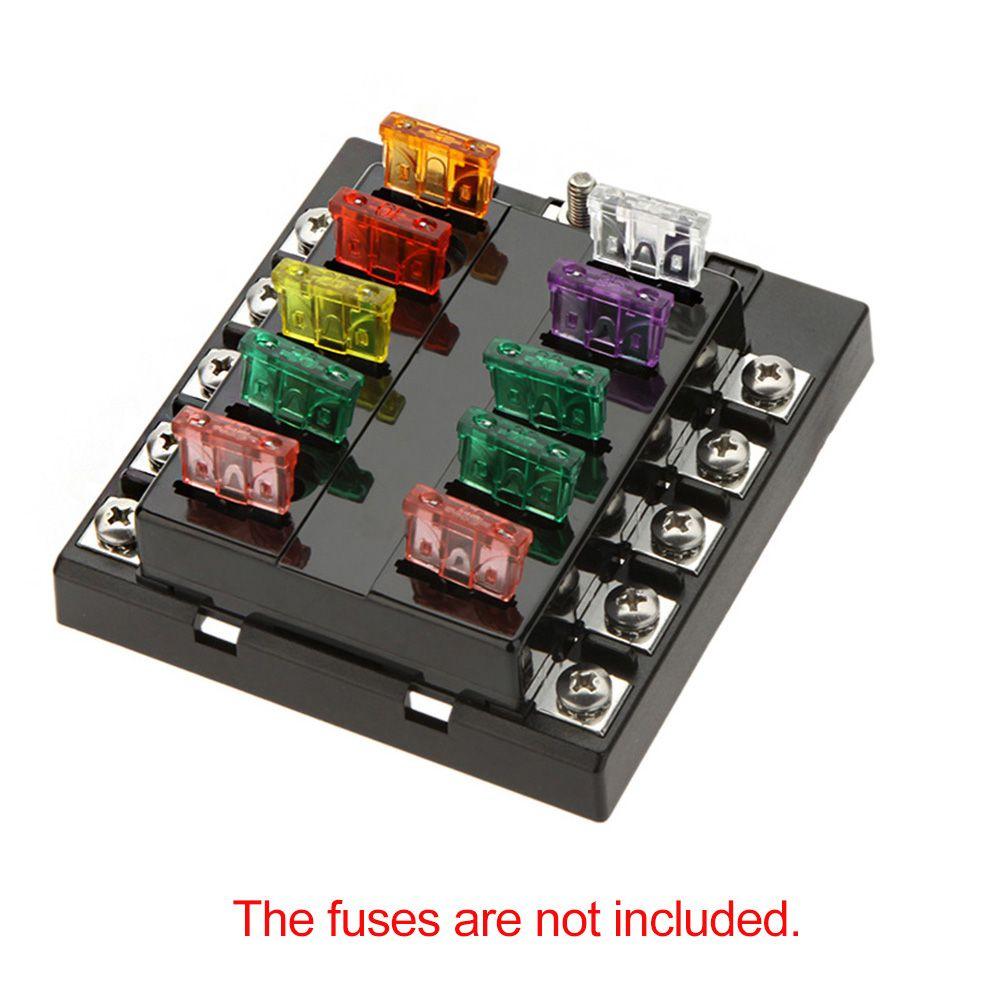best quality high quliaty univesal car fuse box 10 way circuit 32v high quliaty univesal car fuse box 10 way circuit 32v dc waterproof blade car fuse holder