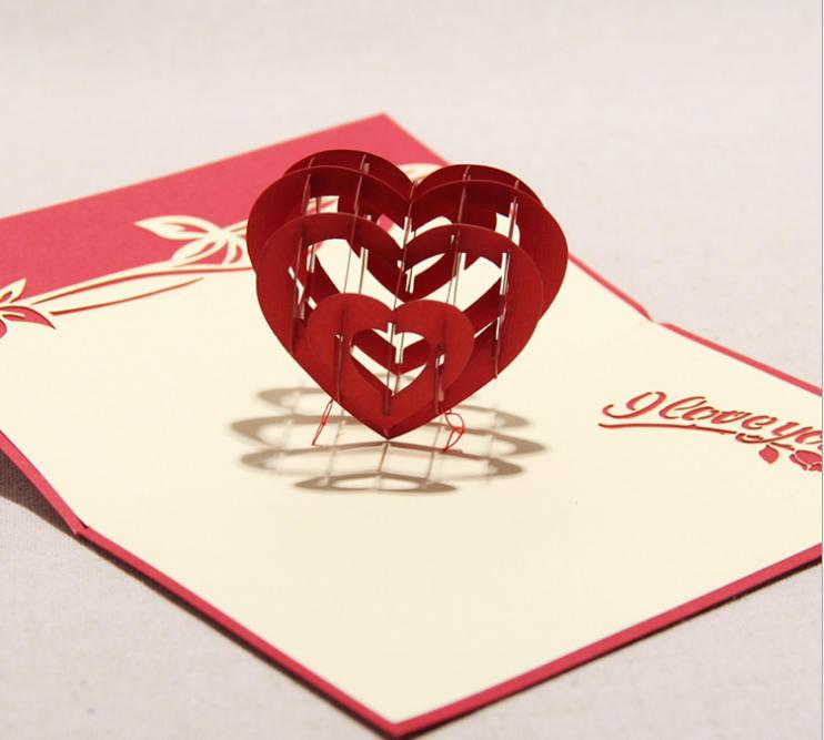 3d Handmade Greeting Cards Creative ValentineS Day Card 3d – Valentine Anniversary Cards