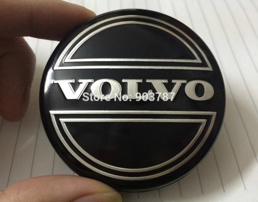 Best Quality Dhl 64mm Alloy Volvo Wheel Center Caps Hub Cover Car Emblem Badge Black C30 C70 S40 ...