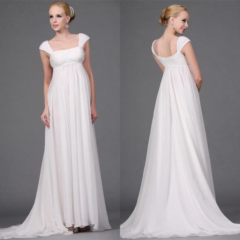 Cheap Maternity Wedding Dresses: Cheap 2015 Empire Maternity Wedding Dresses With Cap