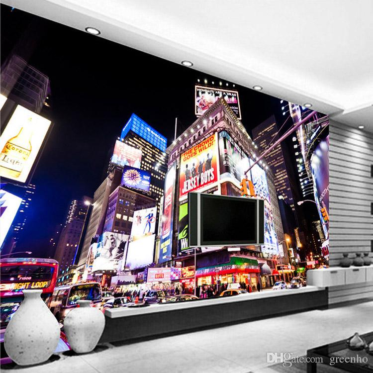 Custom 3d wall murals new york times square wallpaper city for New york times interior design