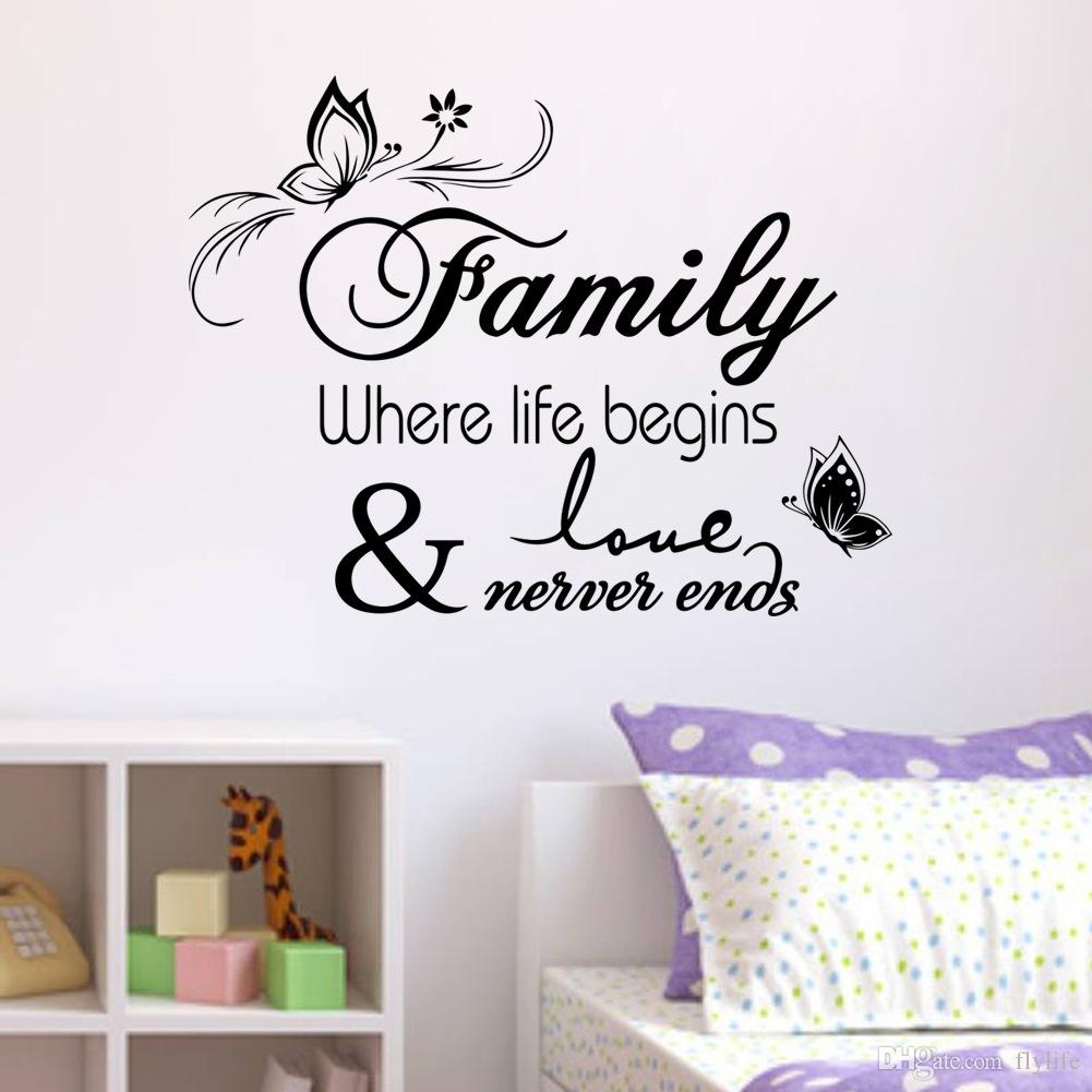 Family Vinyl Wall Quote Decal Stickers for Home Decor