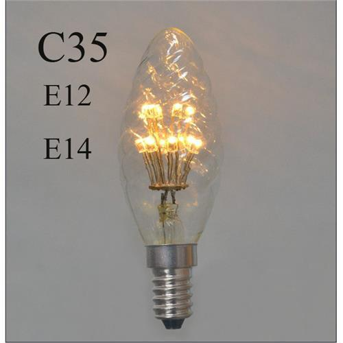 C35 Led Filament Candle Bulbs E12 E14 1w Edison Retro Led Light Bulb Decorative Lamp Ac110v