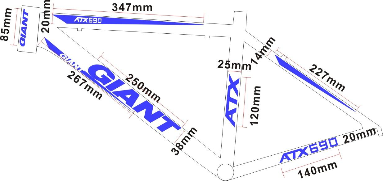 2015 new giant atx690 bike bicycle frame stickers diy cycling decal road bike sticker decals reflective on frame bicycle frame stickers bicycle stickers