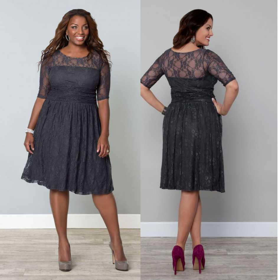 one shoulder plus size attire