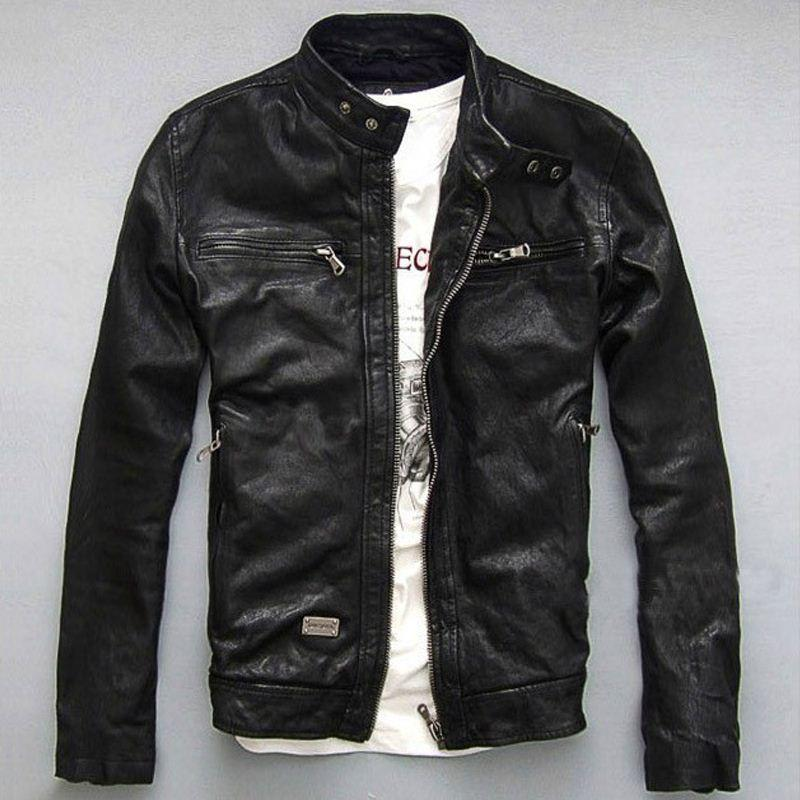 1603 High Quality 100%sheepskin Brand Men Genuine Leather Jacket ...