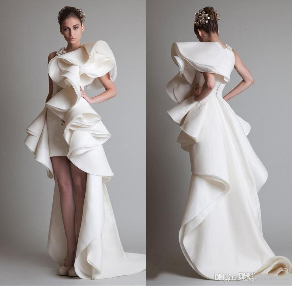 Discount fashion 2015 stunning krikor jabotian wedding for Unusual wedding dresses for sale