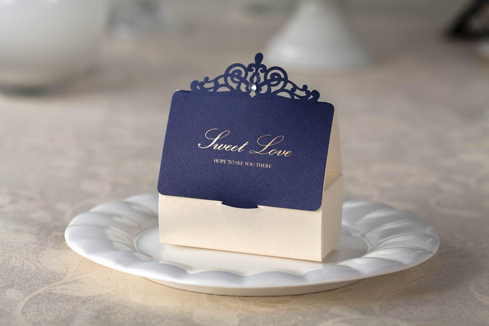 Wedding Favor Boxes Trinidad : Wedding favors boxes gift candy box blue party favor
