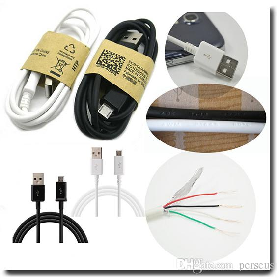 1M 3ft Micro USB Sync Data Cable pour Samsung Galaxy S3 S4 S6 Note 2 4 Adaptateu