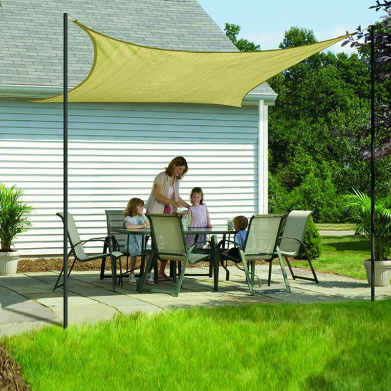 2017 outdoor sun screen shade fabric beach garden yard for Garden screening fabric