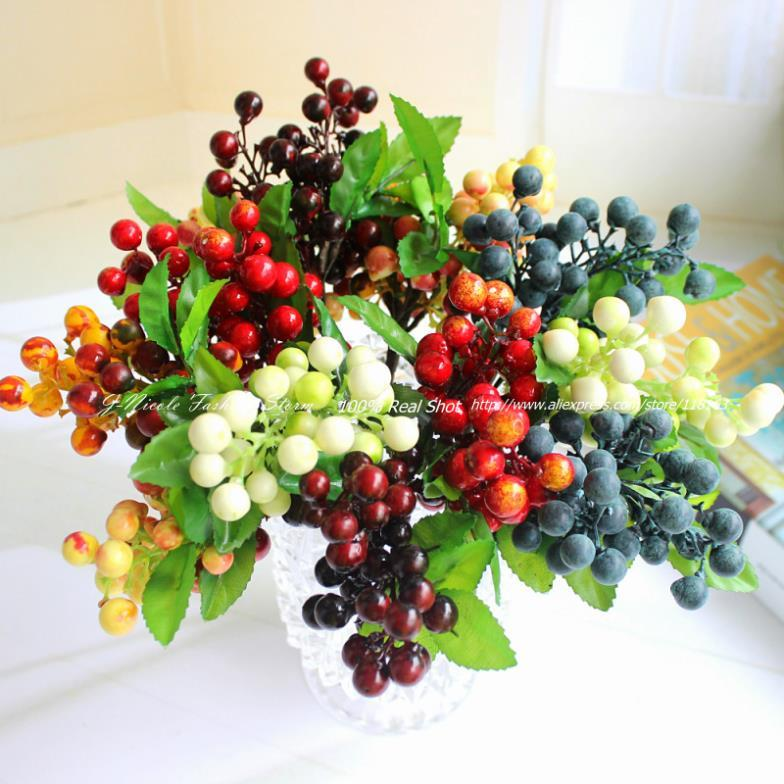 Shop Decorative Flowers Wreaths Online California Artificial Decorative Pe Sunshine Bush Berry Bouquet Fruit Decorative Flowers Home Decor With As Cheap