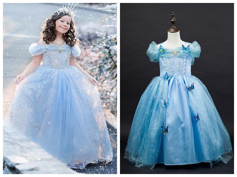 Cinderella Wedding Dress Child : Cinderella princess dress child girls party