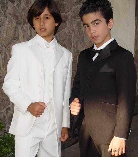 High Quality Five Buttons Notch Lapel Boys Formal Wear Occasion Kids Tuxedos Wedding Party Suits Jacket Pants Vest Tie K35 Groom Men