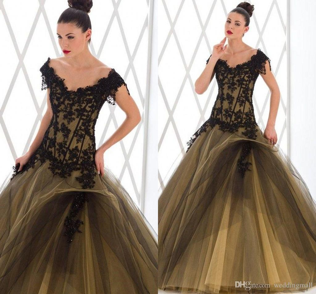 2015 Spring Lace Beaded Portrait Ball Gown Tulle Wedding