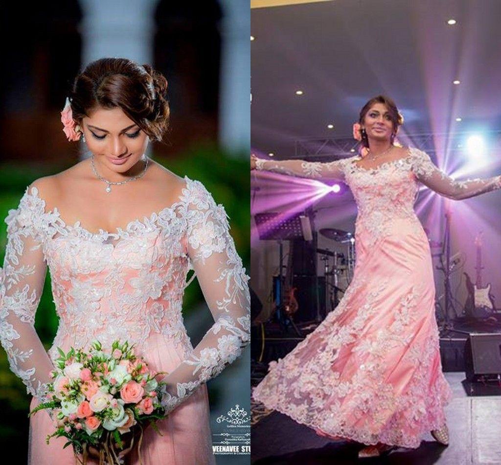Discount Indian Pink Plus Size Wedding Dresses Long