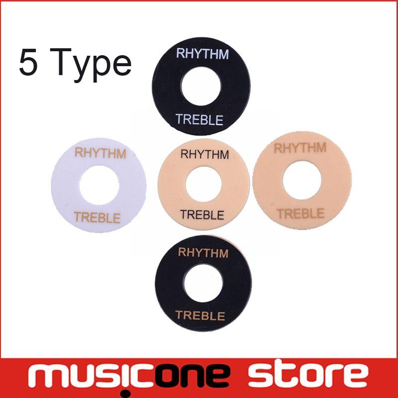 Guitar Toggle Switch Plate Rhythm Treble Washer Ring White Black ...
