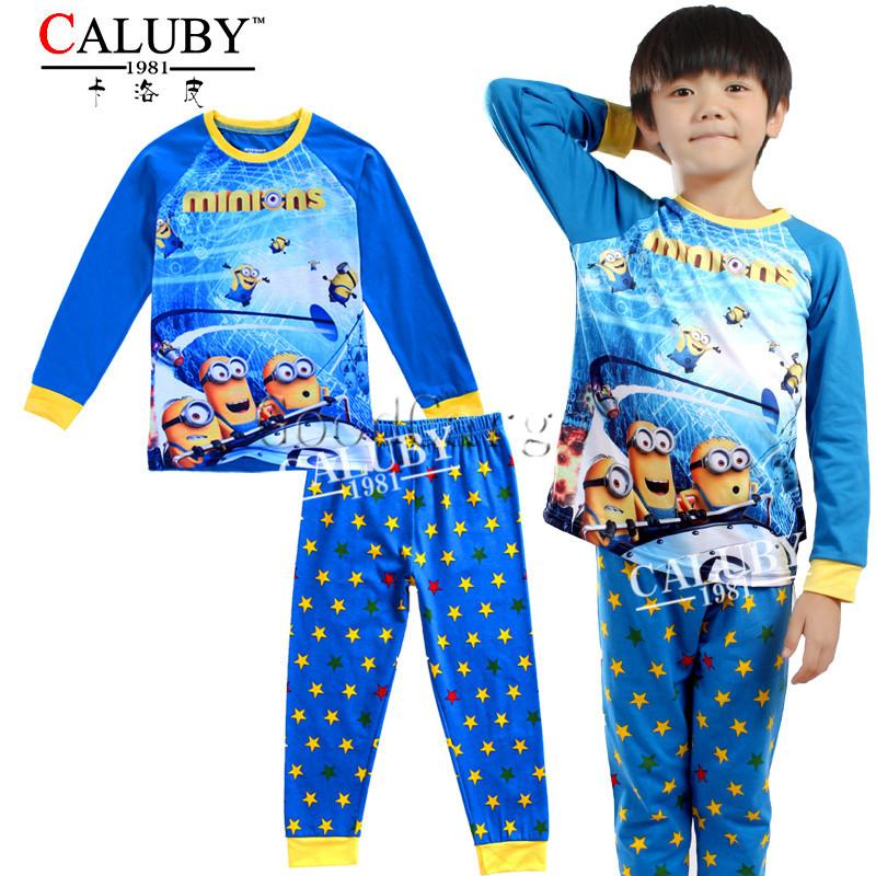 8 Styles Boys Pajamas Despicable Me Minions Poli Sleepwear Kids ...