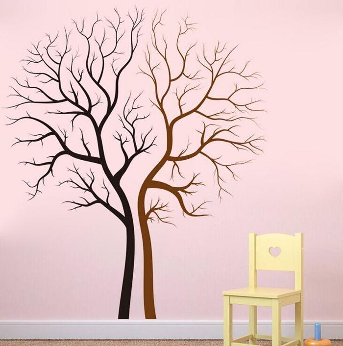 Tree Lovers Sticker Vinyl Tree Family Tree Wall Decal For Home Decoration Lovers Green Forest Tree Vintage Home Decor Stickers Tree Lovers Wall Sticker