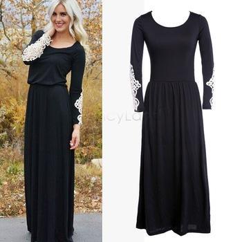 Long black summer dresses – Dress and bottoms