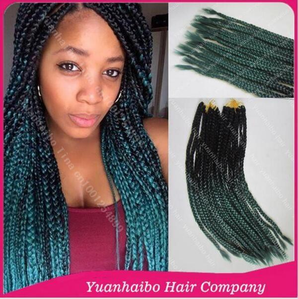 Crochet Green Hair : 24in Two Tone Crochet Braids Black/Green Color Synthetic Havana Mambo ...