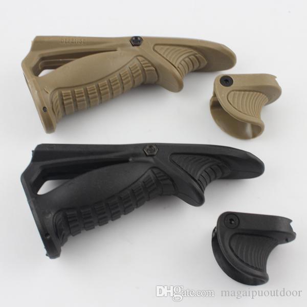 Drss Mako FAB Black VTS Versatile Tactical Support Handstop Foregrip+ PTK Stealth Black Foregrip Grip(BK/TAN)