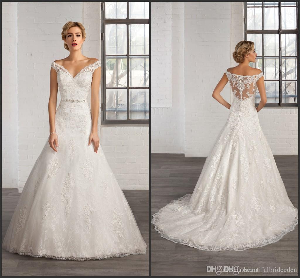 Cosmobella Vintage Lace Ivory Wedding Dresses 2016 f The