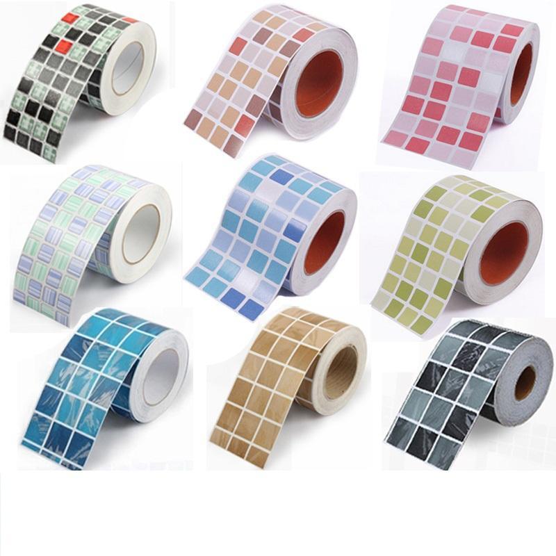 30 100cm roll mosaic wall stickers waterproof baseboard stickers bathroom toilet living room
