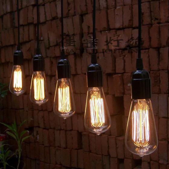 Vintage Edison Bulb Pendant Lamp Bulb Chandeliers Pendant Ceiling – Hanging Edison Bulb Chandelier