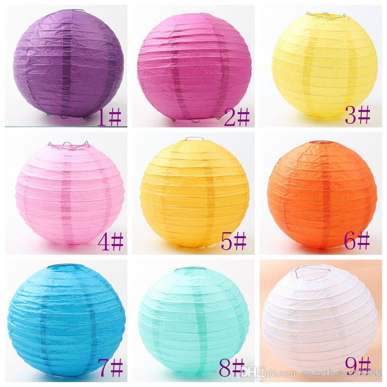 9colors Mic Fashion White Chinese Paper Lantern 8 Wedding Party Home Decorations 20cm Hot Sell Items