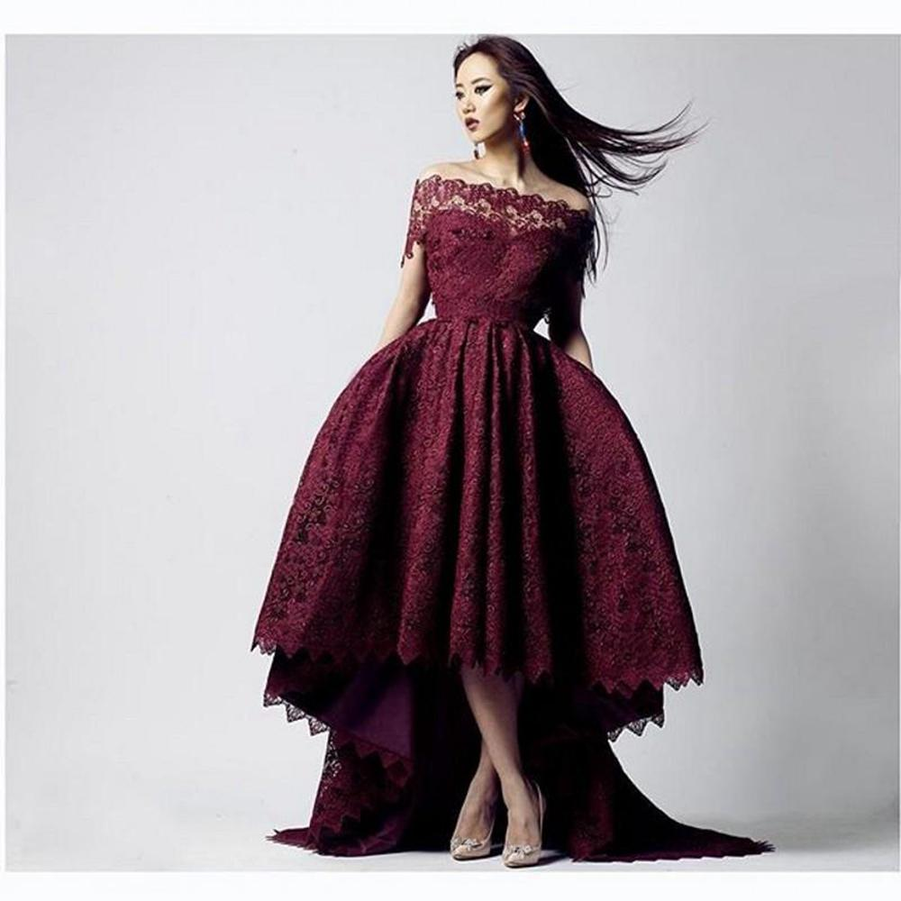burgundy 2016 lace prom gowns with sequin off shoulder. Black Bedroom Furniture Sets. Home Design Ideas
