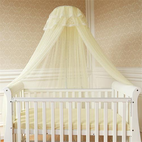 Summer baby bed mosquito mesh dome curtain net for toddler for Drape stand for crib