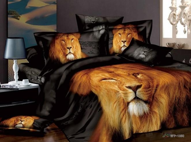 Vente en gros marque nouvel animal de lion literie queen for Housse requirements