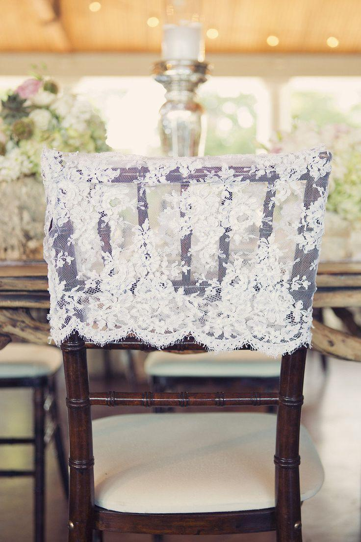 Beach lace wedding chair covers sashes wedding decorations chair