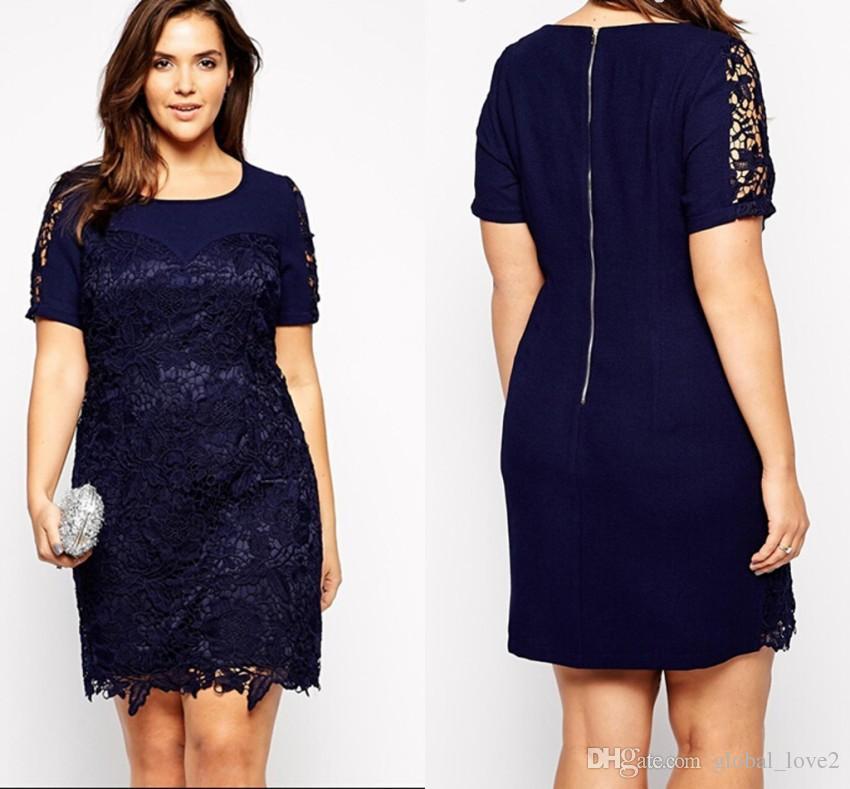 Fat Women Plus Size Dresses Short Ladies Plus Size Dresses Casual ...