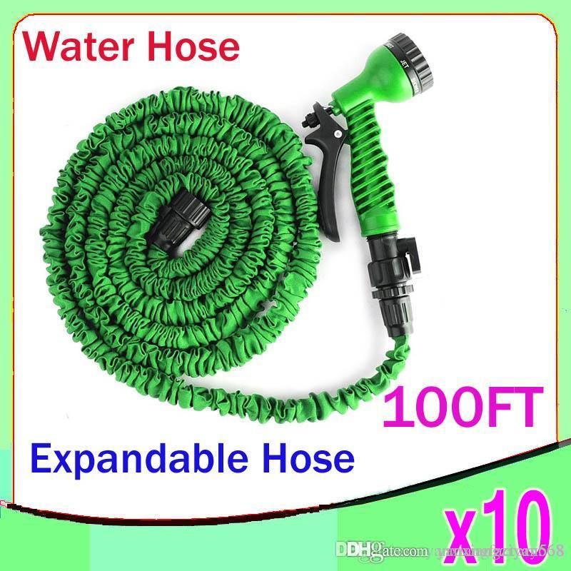 Wholesale 100ft expandable flexible water garden hose flexible water hose with valve and spray Expandable garden hose 100 ft