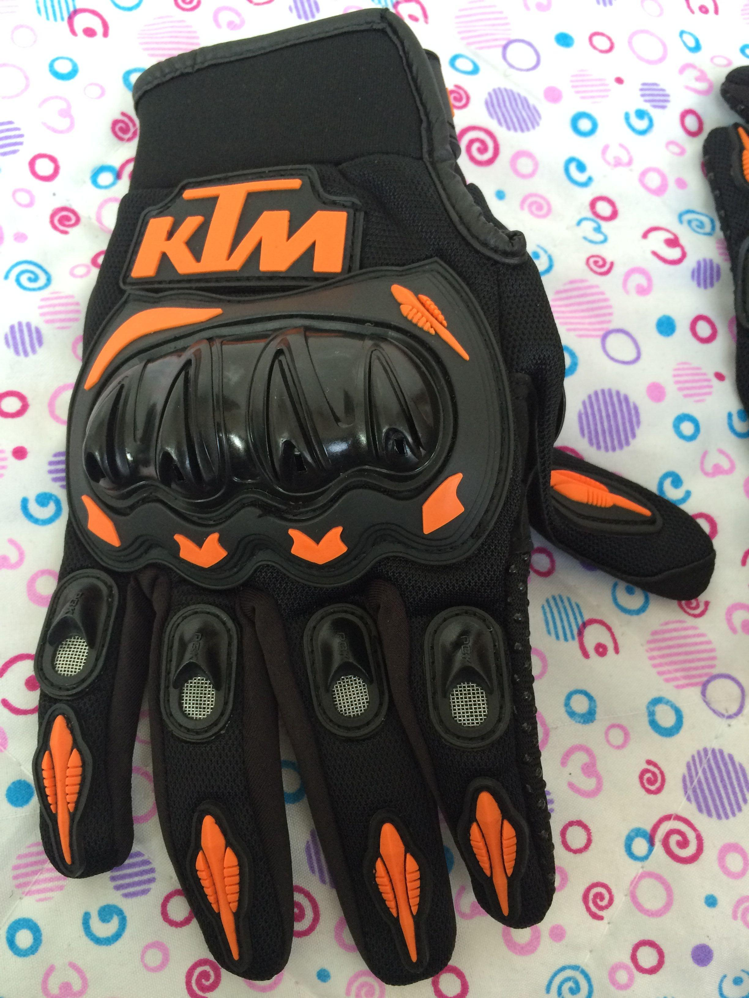 Motorcycle gloves ratings - Hotsale New 2014 Ktm Race Comp Gloves Motorcycle Motocross Cross Country Full Finger Leather Glove