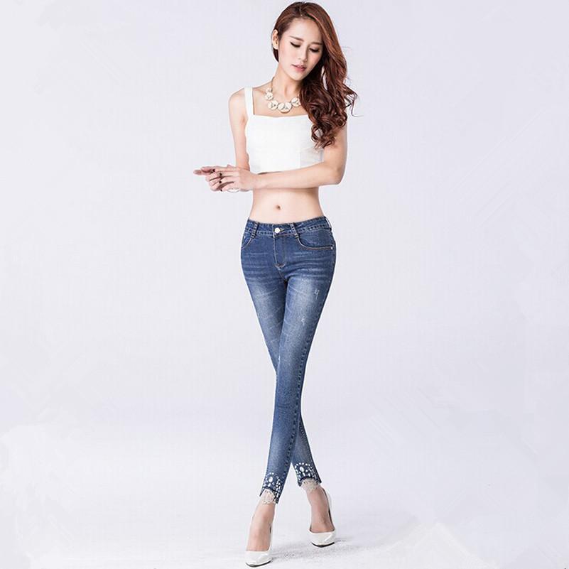 2016 Women Jeans New Fashion Wild Slim Denim Pencil Pants Casual