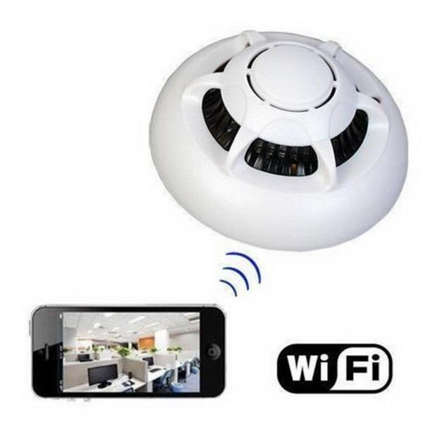 discount 2015 hot wireless smoke detector security wifi ip camera cam dvr vid. Black Bedroom Furniture Sets. Home Design Ideas
