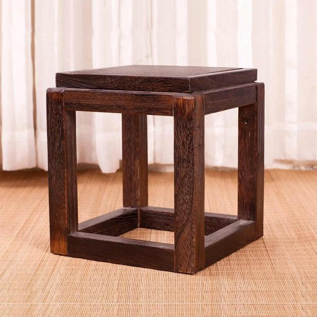 Japanese Antique Wooden Stool Chair Paulownia Wood Small Asian Traditional  Furniture Living Room Portable Low Stand