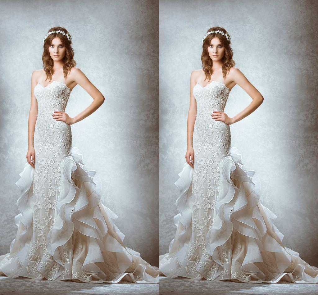 2015 Wedding Dresses Mermaid Vintage Backless Bridal